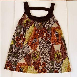 Dressbarn Multicolored Medium Top